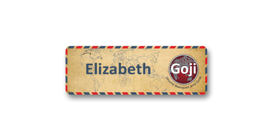 P1 metal panel name badge with printed paper effect by Fattorini 55 x 19mm
